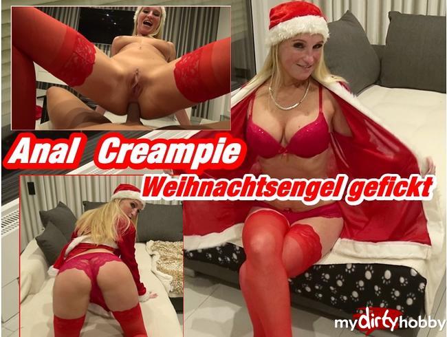 Anal Creampie - Weihnachtsengel gefickt