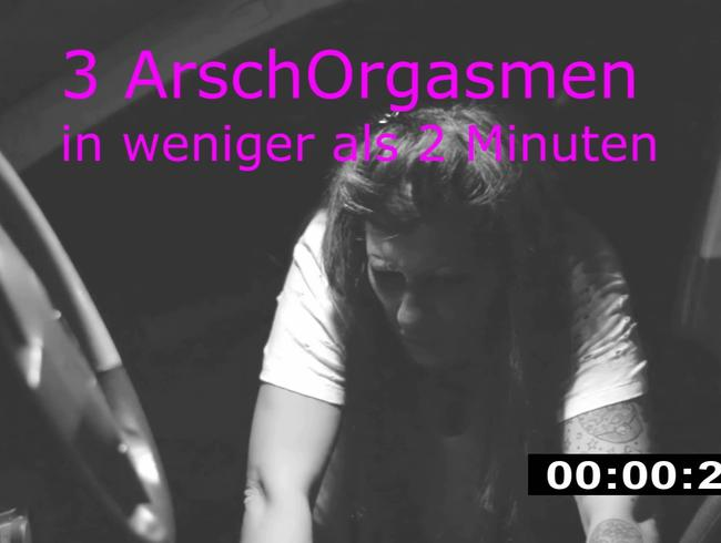 Lautstarkes Outdoor Arsch-Orgasmus Geschrei !