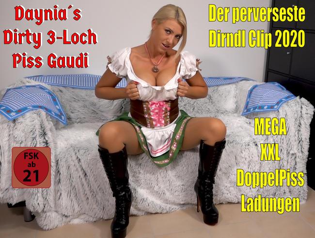 Der perverseste Dirndl Clip 2020 | Daynia´s Dirty 3Loch Piss Gaudi! O´PISST is...