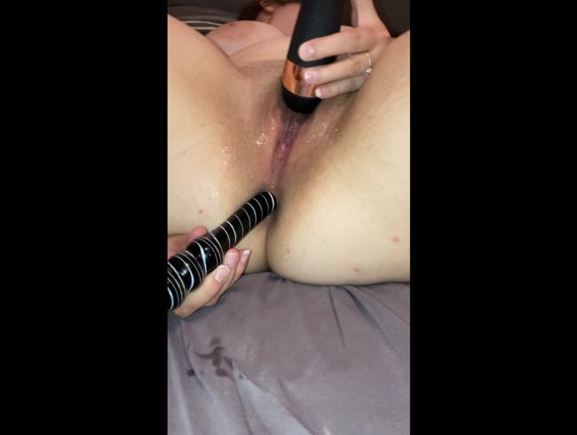 Richtig Nass anal mit Dildo selber gemacht ????