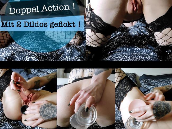 Doppel Action ! Mit 2 Dildos gefickt!