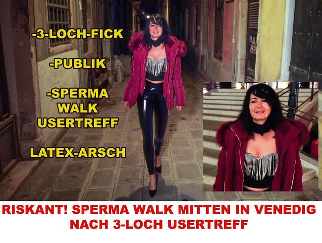 RISKANT! SPERMA WALK MITTEN IN VENEDIG NACH 3-LOCH USERTREFF