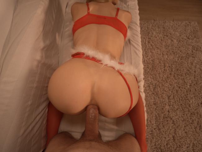 Weihnachtsfick in Nylons Teil 2: Doggy in Fotze und Arsch, Anal Missionary und ANAL CREAMPIE