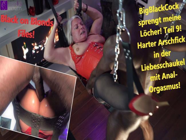 BigBlackCock sprengt meine Löcher! Teil 9! Harter Arschfick in derLiebesschaukel mit Anal-Orgasmus!