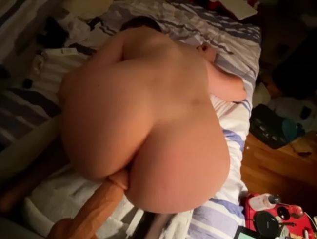 dildo ficken und anal creampie