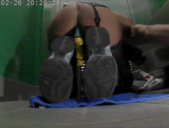 geile netz leggins und dildo anal i