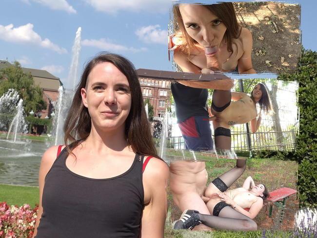 GERMAN SCOUT - Mina aus Mannheim Outdoor im Wald blank Anal gefickt