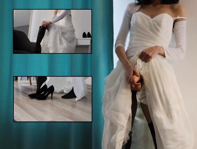die Braut hat mich vor der Hochzeit mit einem Strap-on in den Arsch gefickt?! Femdom