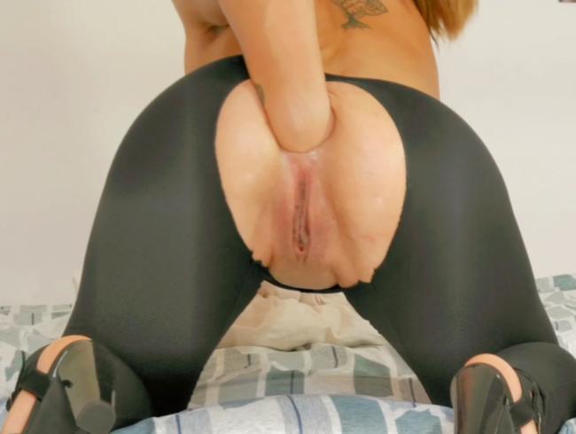 Teen Selbst Anal Fisting und Muschi, Spritzen und toller Orgasmus !!!
