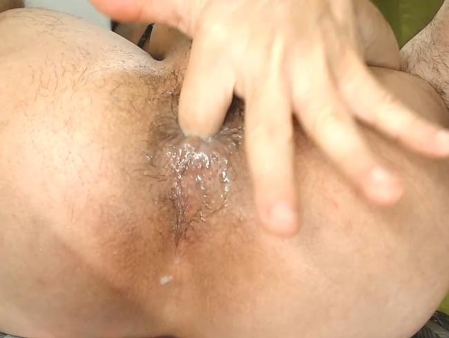 Speichel in meinem haarigen Arsch
