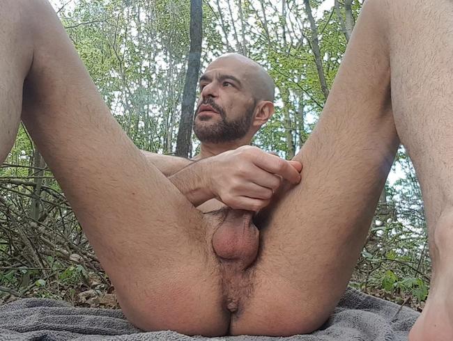 Spiel mit meinem Schwanz in der Natur