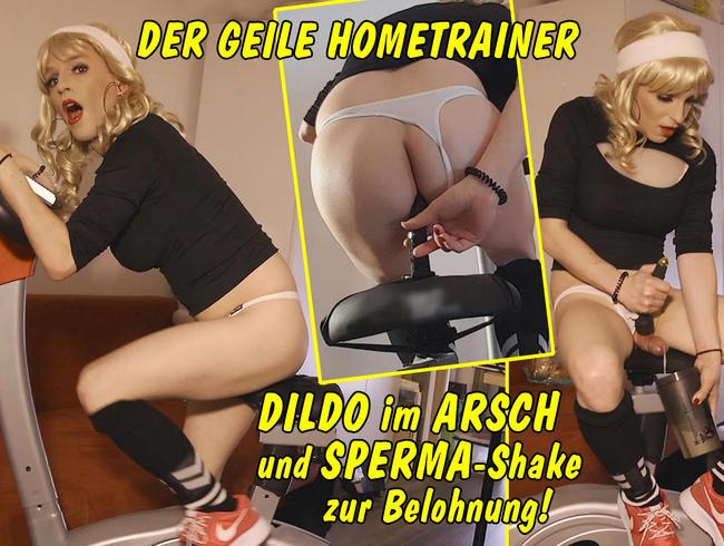Der geile Hometrainer – Radeln mit Dildo im Arsch und Sperma-Shake zur Belohnung!