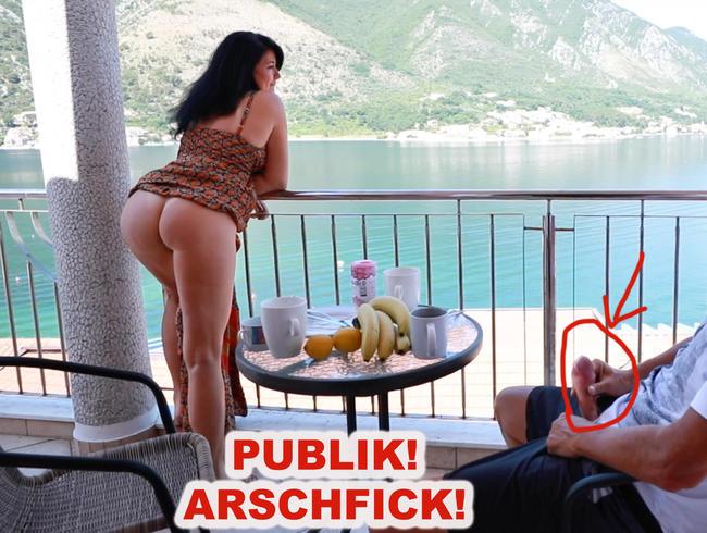 PUBLIK EXTREM! ARSCH GEFICKT AUF DER HOTELTERRASSE!