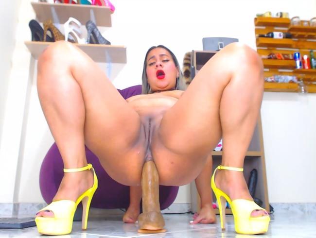 Analreiten in sexy Heels